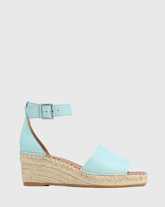 Wittner - Women's Blue Sandals - Krysta Leather Espadrille Wedge Sandals - Size One Size, 38 at The Iconic