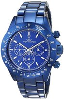 Toy Watch Unisex Quartz Watch with Blue Dial Analogue Display and Navy Metal Strap 0.94.0012