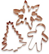 Williams-Sonoma Holiday Copper Cookie Cutter Set