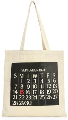 Saks Fifth Avenue Calendar Canvas Tote Bag