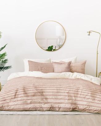 Express Deny Designs Zhi Pink Stripe Bed In A Bag Set