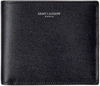 Saint Laurent East/West Leather Bifold Wallet