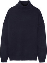 Tibi Oversized Cashmere Turtleneck Sweater - Navy
