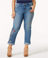 Style&Co. Style & Co Plus Size Embroidered Boyfriend Jeans, Only at Macy's