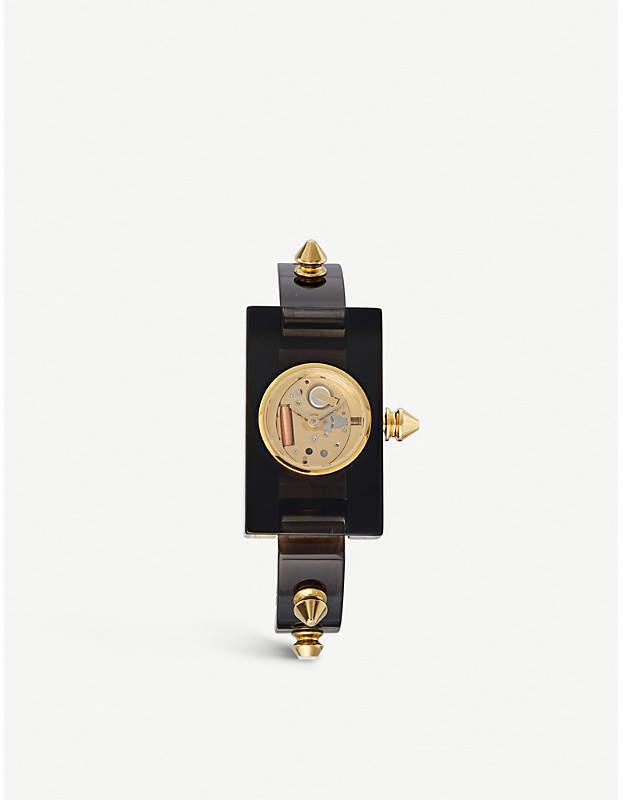 Gucci YA143508 Plexiglass and yellow-gold watch