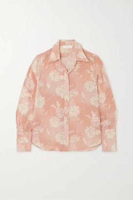 Chloé Floral-print Silk Crepe De Chine Blouse - Pink