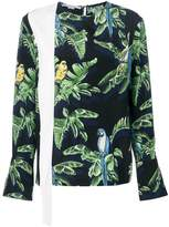 Stella McCartney exotic print blouse