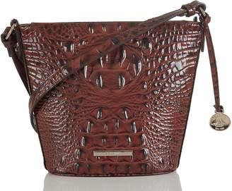 Brahmin Mini Quinn Croc Embossed Leather Bucket Bag
