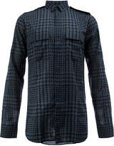 Balmain Prince of Wales checked military shirt