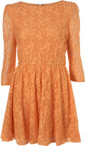 Orange Lace Flippy Dress