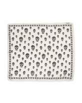 Alexander McQueen Men's Skull-Print Chiffon Scarf, Ivory/Black