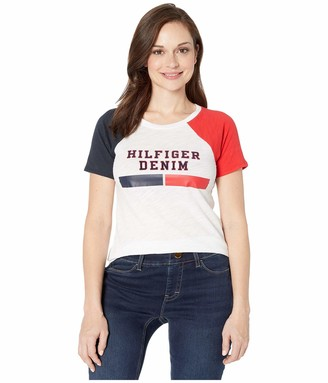 Tommy Hilfiger Women's Adaptive T Shirt with Magnetic Closure at Center Back