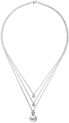 Yoko London 18kt white gold Starlight South Sea earl and diamond necklace