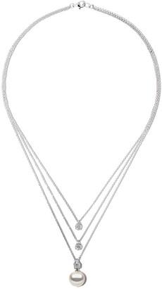 Yoko London 18kt white gold Starlight South Sea earl and diamond necklace