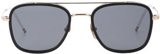 Thom Browne Double-Bridge Square Sunglasses
