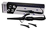 "Wazor Hair Curler 1-1/2"" Tapered Ceramic Hair Curling Iron Digital Display Screen Curling Wand With Temp Setting and Auto Shut Off"