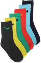 Nike Bright Performance Youth Crew Socks - 6 Pack - Boy's