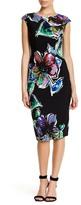 London Times Floral Jersey Sheath Dress (Petite)