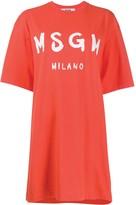 MSGM oversized logo T-shirt dress