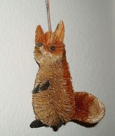 Martha Stewart Woodland Christmas Tree Ornament Red Fox Natural Look