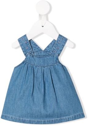 Knot Geometrics denim pinafore dress