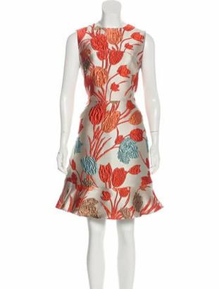 Etro Brocade Knee-Length Dress w/ Tags coral