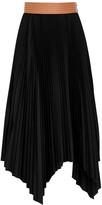 Loewe Black Plisse Midi Skirt