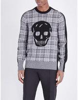 Alexander Mcqueen Skull Wool And Cashmere-blend Jumper
