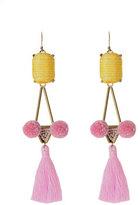 Mignonne Gavigan Mason Tassel Drop Earrings, Pink/Yellow