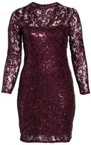 Marina Plus Size Women's Sequin Lace Stretch Sheath Dress