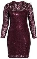Marina Sequin Lace Stretch Sheath Dress