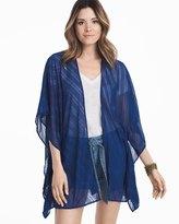 White House Black Market Blue Kimono Coverup