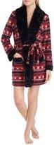 Kensie Fair Isle Micro Fleece Wrap Robe