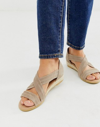 Office Hallie camel suede espadrille flat sandals