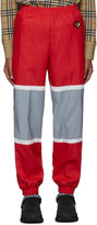 Burberry Red and Silver Bi-Color Track Pants