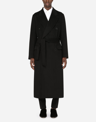 Dolce & Gabbana Belted Double-Breasted Cashmere Coat
