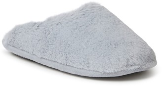 Dearfoams Plush Faux Fur Scuff Slipper