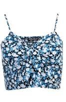 Select Fashion Fashion Womens Blue Floral Print Bralet - size 14