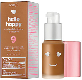 Benefit Cosmetics Mini Hello Happy Flawless Brightening Liquid Foundation