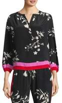 Joie Eilga Floral Border Print Silk Blouse