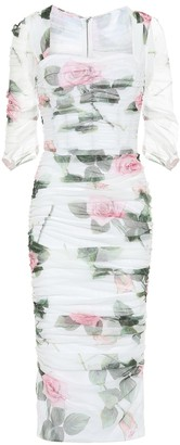 Dolce & Gabbana Floral cotton midi dress