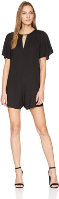 Splendid Women's V Short Romper Solid