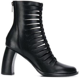 Ann Demeulemeester Cut Out Ankle Boots