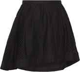 IRO Otilia wrap-effect pleated broderie anglaise mini skirt