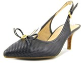 Tommy Hilfiger Janis Pointed Toe Leather Slingback Heel.
