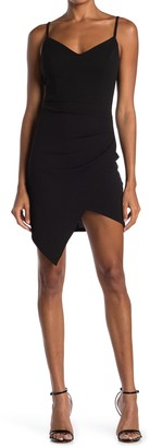 Love, Nickie Lew Spaghetti Strap Asymmetrical Hem Dress