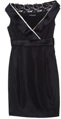 Alexander McQueen Black Silk & Cotton Blend Tuxedo Detail Cocktail Dress M
