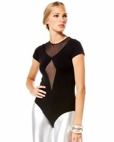 Bebe Mesh Diamond Bodysuit