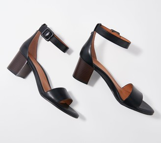 Vionic Ankle Strap Block Heeled Sandals - Rosie