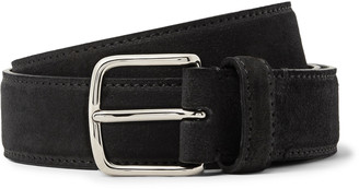 The Row 3cm Black Suede Belt